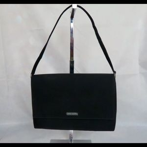 Kate Spade Medium Black Flap Nylon Shoulder Bag